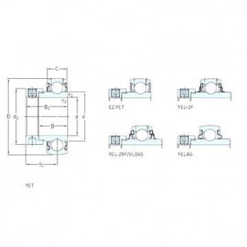 підшипник YET207-105 SKF